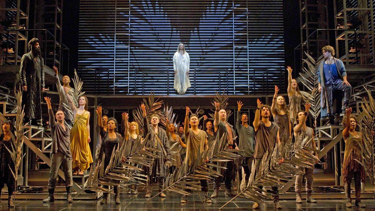 An image from the Stratford Festival's Broadway production of Jesus Christ Superstar, directed by Des McAnuff.