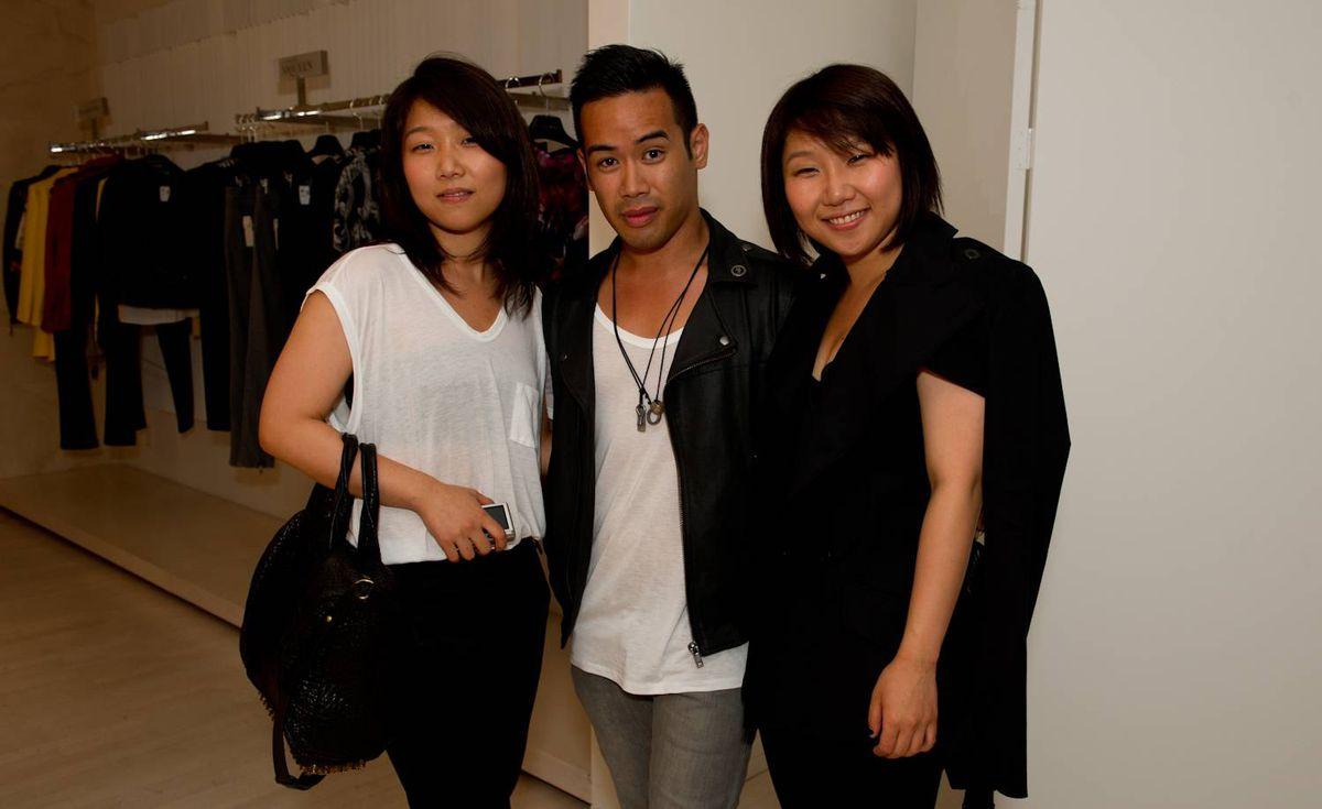 Michelle Jun (left), Jonathan Jimenez and Gabby Jun