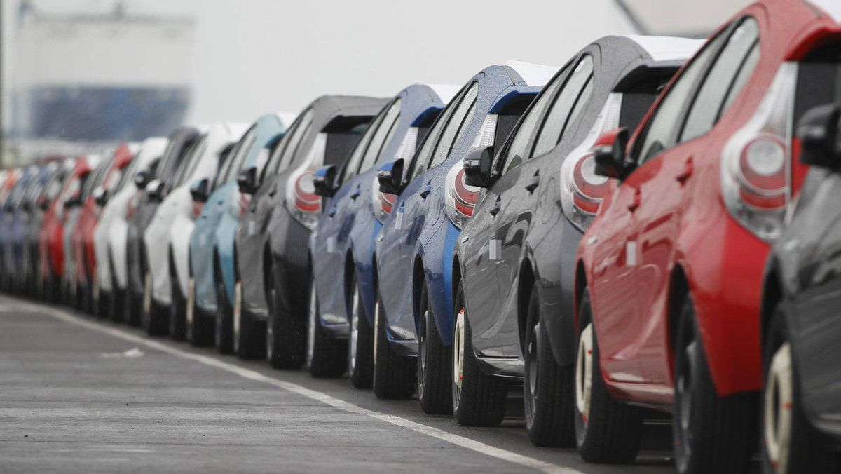 Newly produced Toyota cars are seen parked at Sendai port in Sendai, Miyagi prefecture, northeastern Japan March 2, 2012.