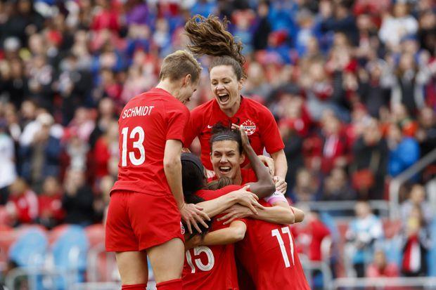 Canadian soccer captain Christine Sinclair scores goal No. 181 of her career