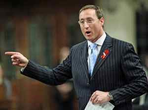 Defence Minister Peter MacKay stands during Question Period in the House of Commons on Monday, November 30, 2009.