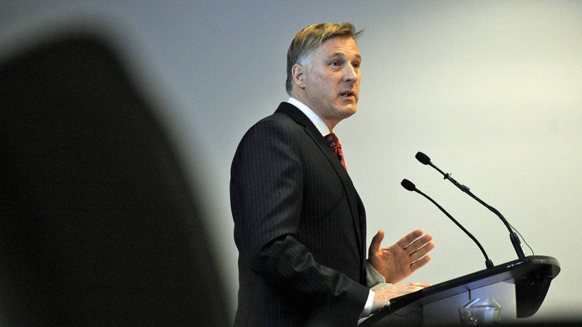 Maxime Bernier, Minister of State for Small Business and Tourism, speaks to a Toronto business conference on Nov. 8, 2011.