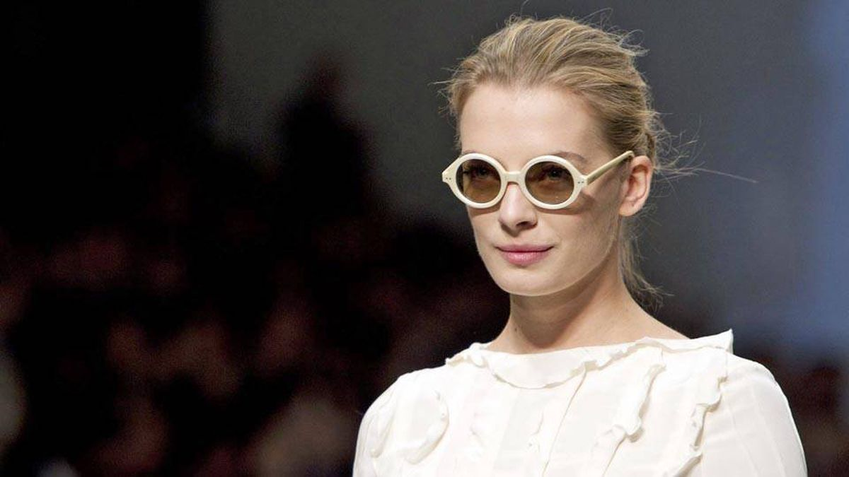 A model shows a creation by Joe Fresh Style during Toronto Fashion Week in Toronto Wednesday, October 20, 2010.