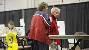 Voters take to the polls in Charlottetown, P.E.I. early Monday, May 2, 2011 to cast their ballot in the federal election.