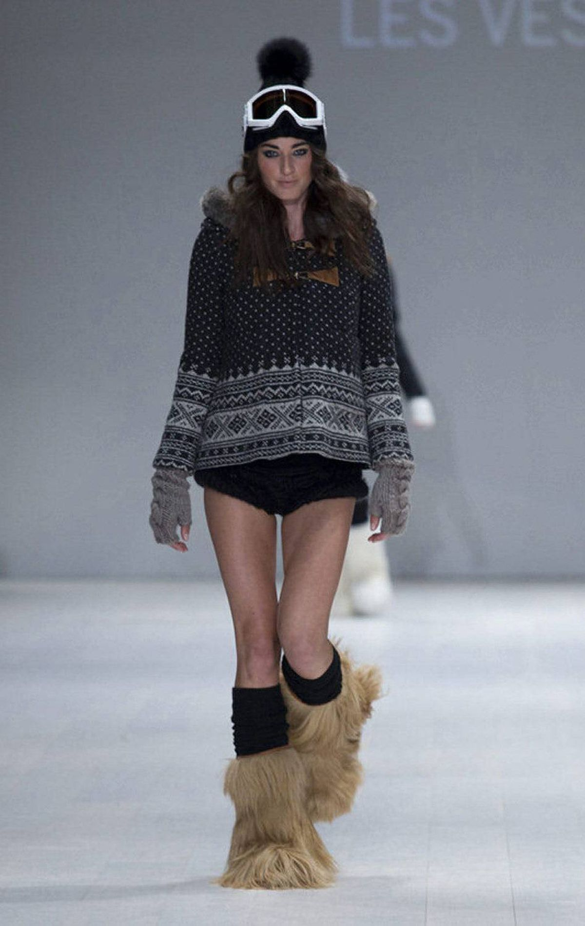 Ah winter: Time to put on ... a cozy sweater, hat, boots and run around in the snow. Without pants. It's a hoser's fantasy.