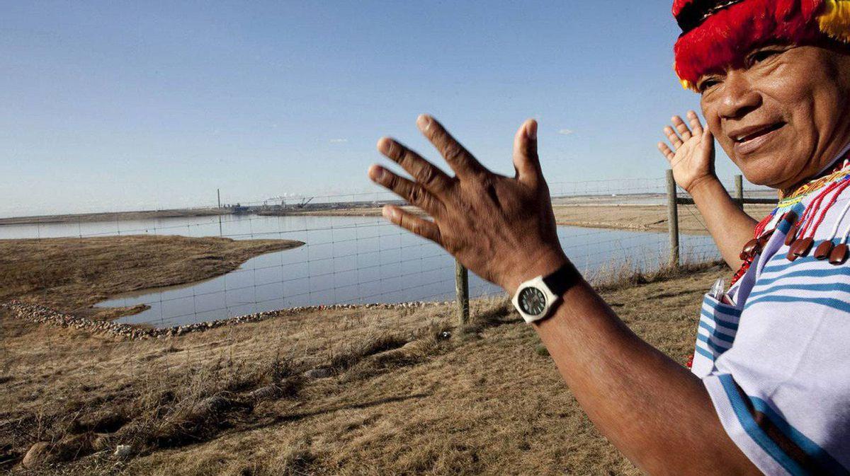 Jiyukam Irar Miik of Peru visits the Athabasca oil sands area of Northern Alberta.
