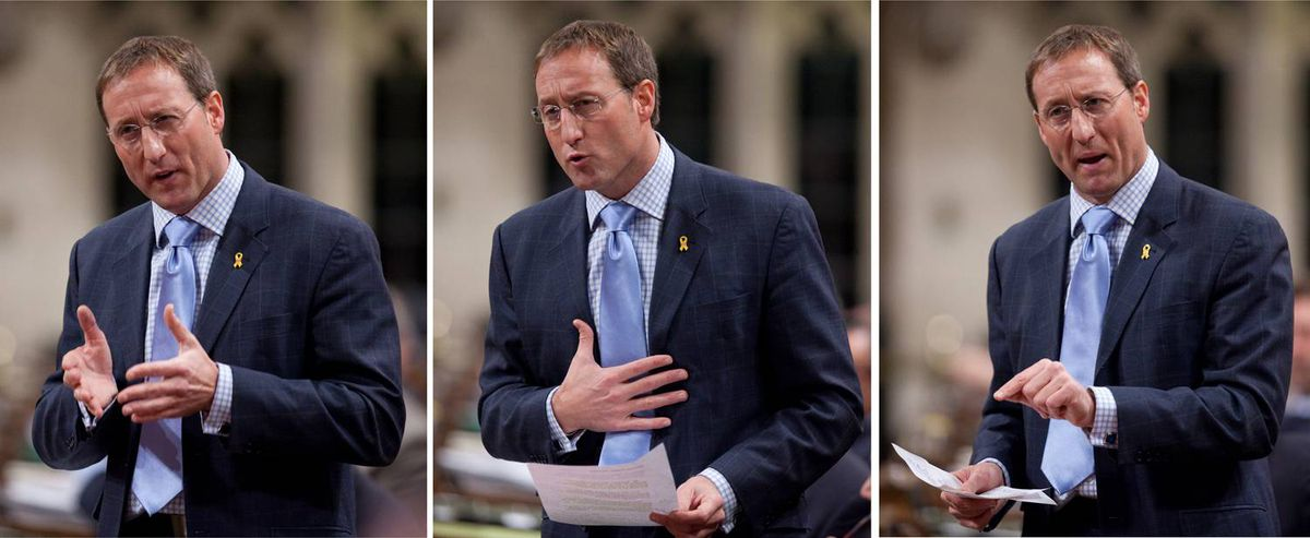 Defence Minister Peter MacKay speaks during Question Period in the House of Commons on Monday, November 23, 2009.