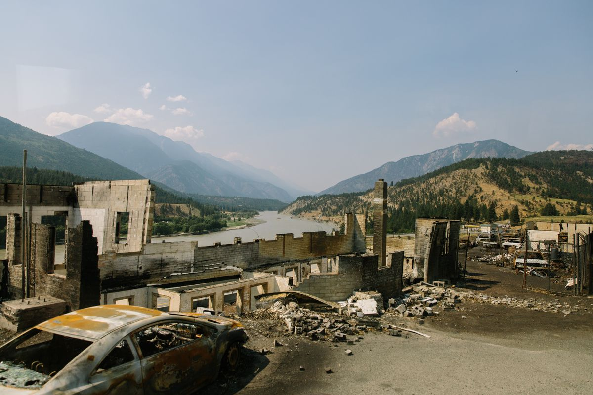 Aftermath of wildfire in Lytton, B.C.