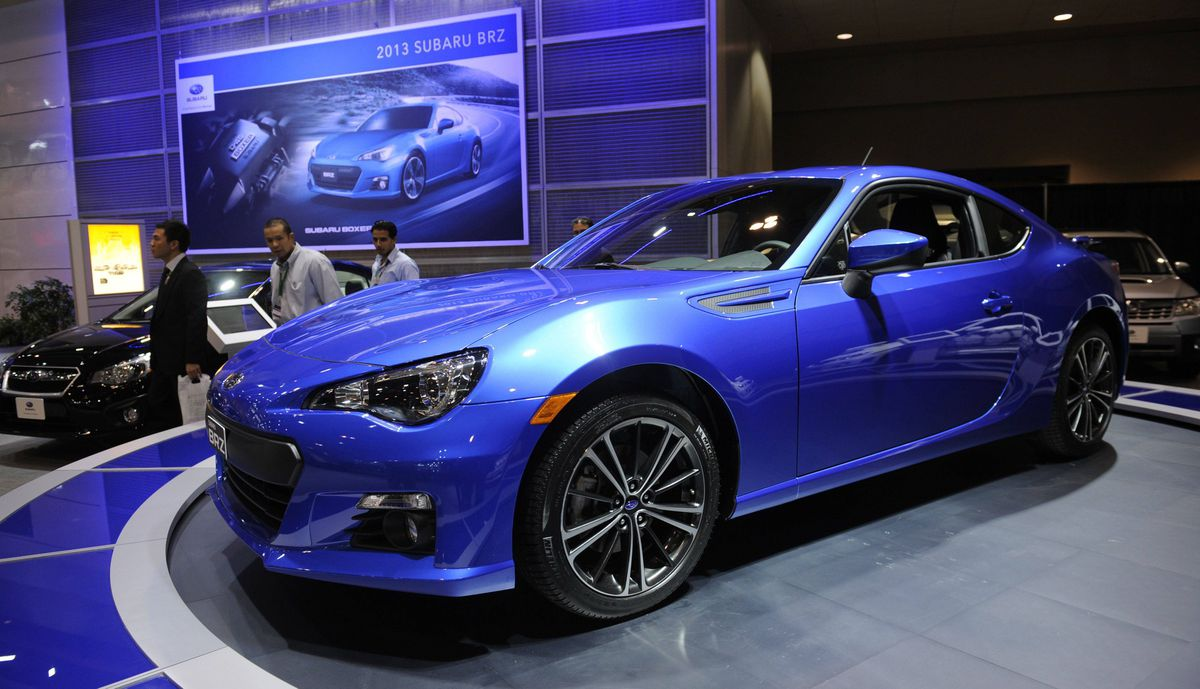 Subaru BRZ at the media preview of the Canadian International Auto Show in Toronto.