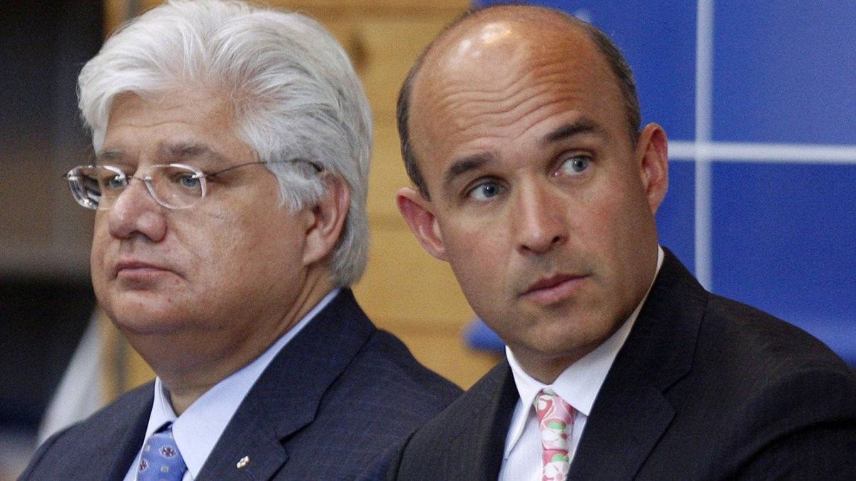 Former RIM co-CEOs Jim Balsillie, right, and Mike Lazaridis.