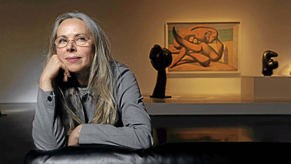 Anne Baldassari, general commissioner, president and chief curator of the Musee National Picasso in Paris, is seen April 24, 2012, during a media preview of the Art Gallery of Ontario's Pablo Picasso exhibition.