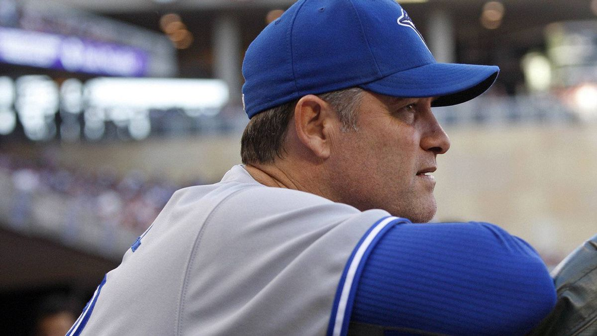 Toronto Blue Jays manager John Farrell watches the action against the Minnesota Twins during the fourth inning of their American League MLB baseball game at Target Field in Minneapolis, May 12, 2012. REUTERS/Eric Miller