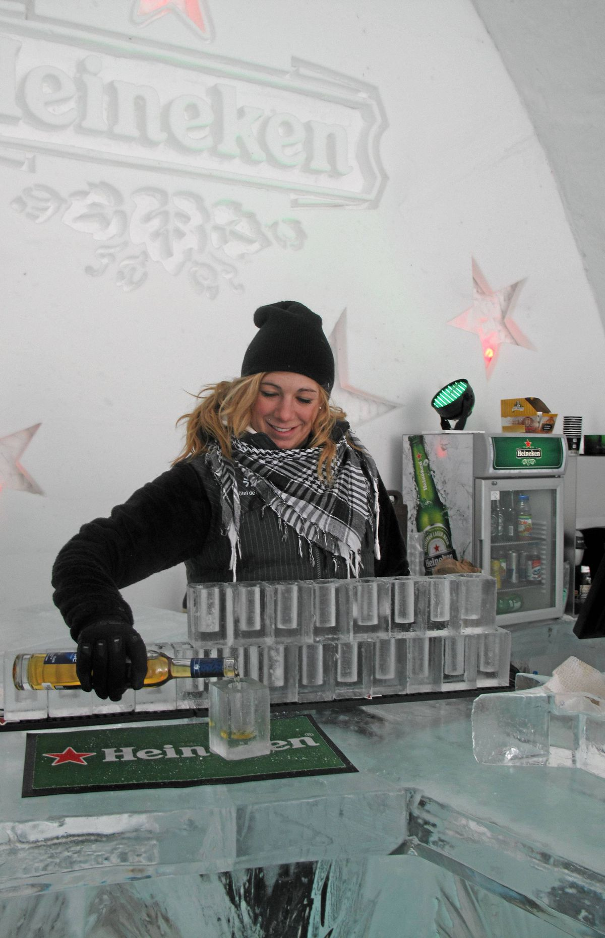 Vanessa Provencher pours the signature cider drink in, not on, the rocks.