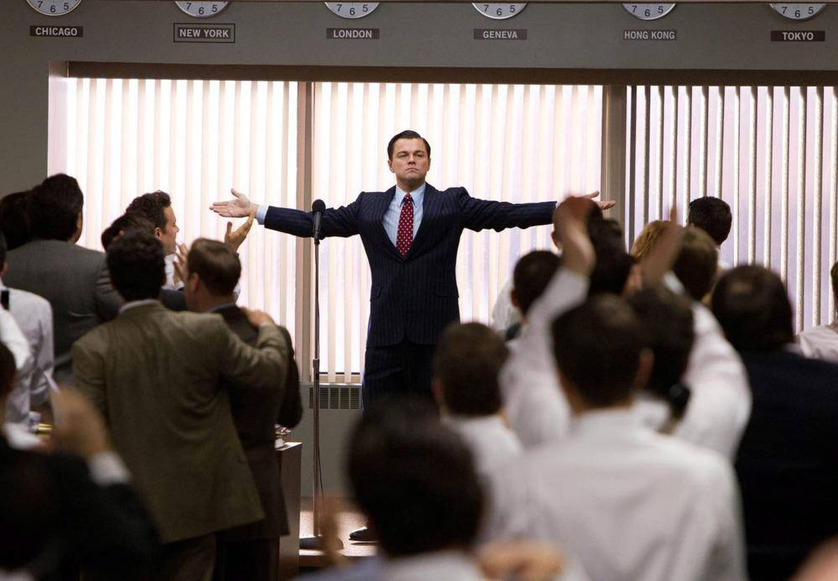 Image result for wolf of wall street office scene