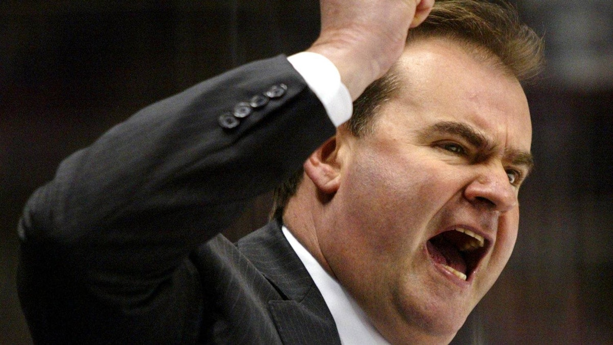 Pat Burns coached the Toronto Maple Leafs from 1991-1996.