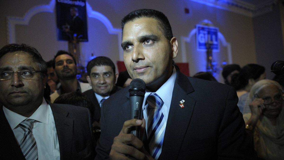 Conservative Parm Gill unseats Ruby Dhalla, the Liberal incumbent, during a tight race in the riding of Brampton-Springdale, May 2, 2011.