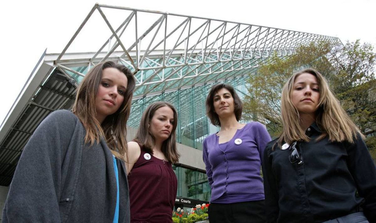 Meaghan Reid of Calgary; Lindsey Van, of Park City, Utah; Karla Keck, of Oconomowoc, Wisc.; and Jessica Jerome, of Park City, Utah, challenged their exclusion from the 2010 Winter Olympics at the British Columbia Supreme Court.