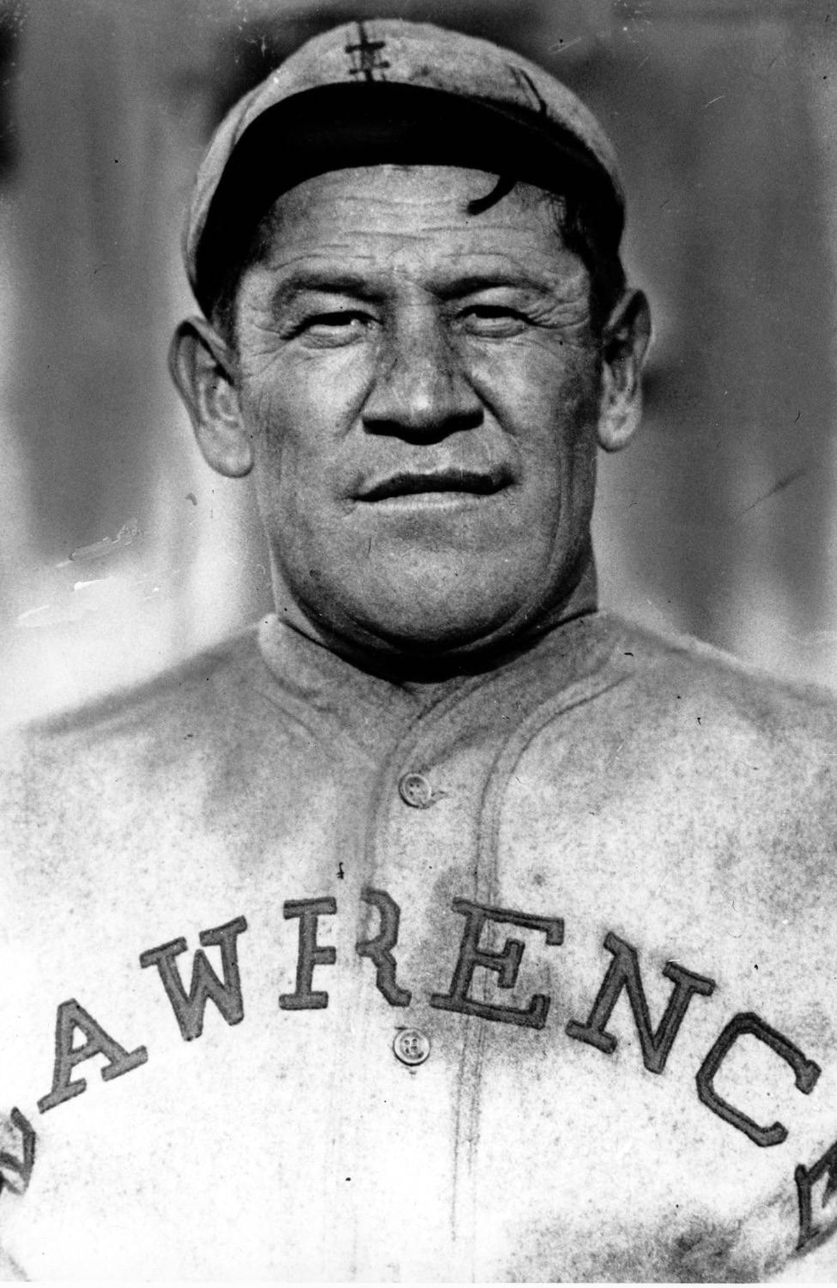This is an undated file photo of Jim Thorpe in a baseball uniform. He was a student at Haskell Institute in Lawrence, Kan., as a young boy. Considered one of America's greatest athletes, he played professional baseball with the New York Giants, the Cincinnati Reds, and the Boston Braves. He played professional football between 1919 and 1926. A second statue of Thorpe will be unveiled at his burial site in Jim Thorpe, Pa., on May 21, 2011.