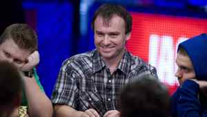 Martin Staszko of the Czech Republic competes during Day 8 of the World Series of Poker $10,000 buy-in, no-limit Texas Hold 'em main event at the Rio hotel-casino in Las Vegas, Nevada July 19, 2011.