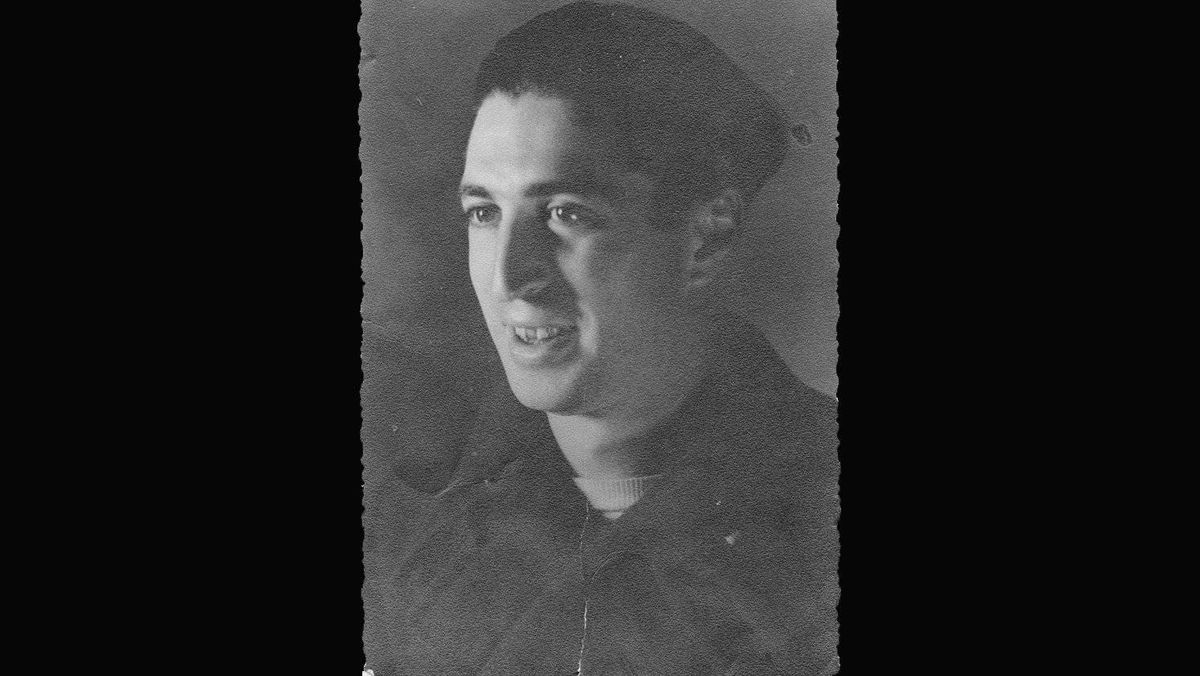 Picture of Milton Cohen taken overseas during the war.