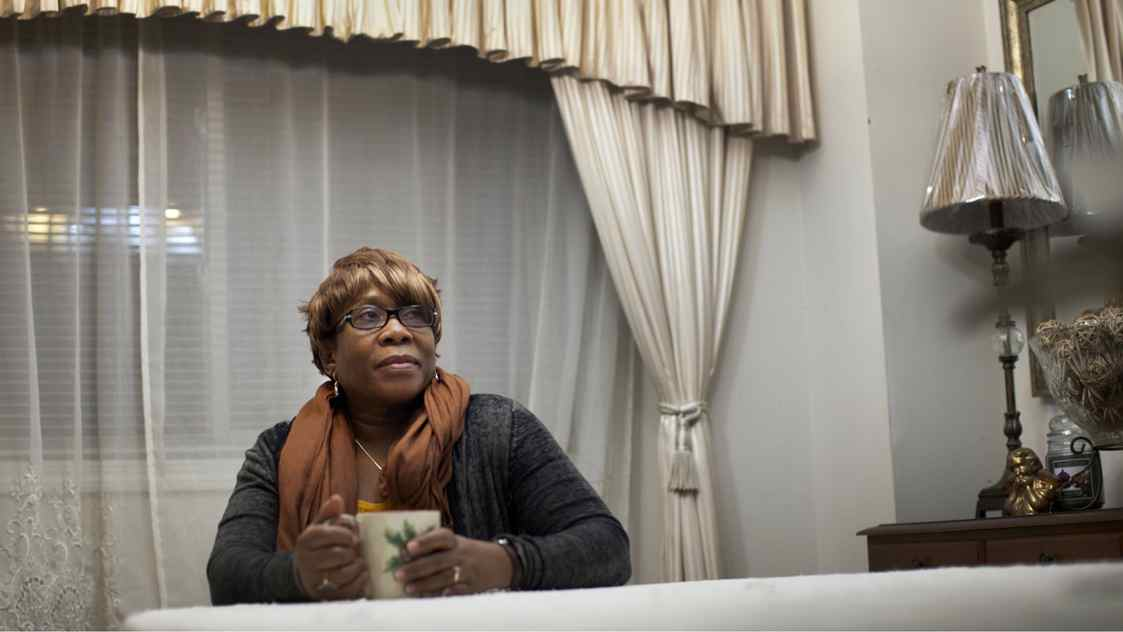 Vera Howe, 61, seen at her home in Toronto on Jan. 27, 2012, works in social services and is concerned about how the possibility of raising the OAS eligibility age will affect retirement for her and her husband.