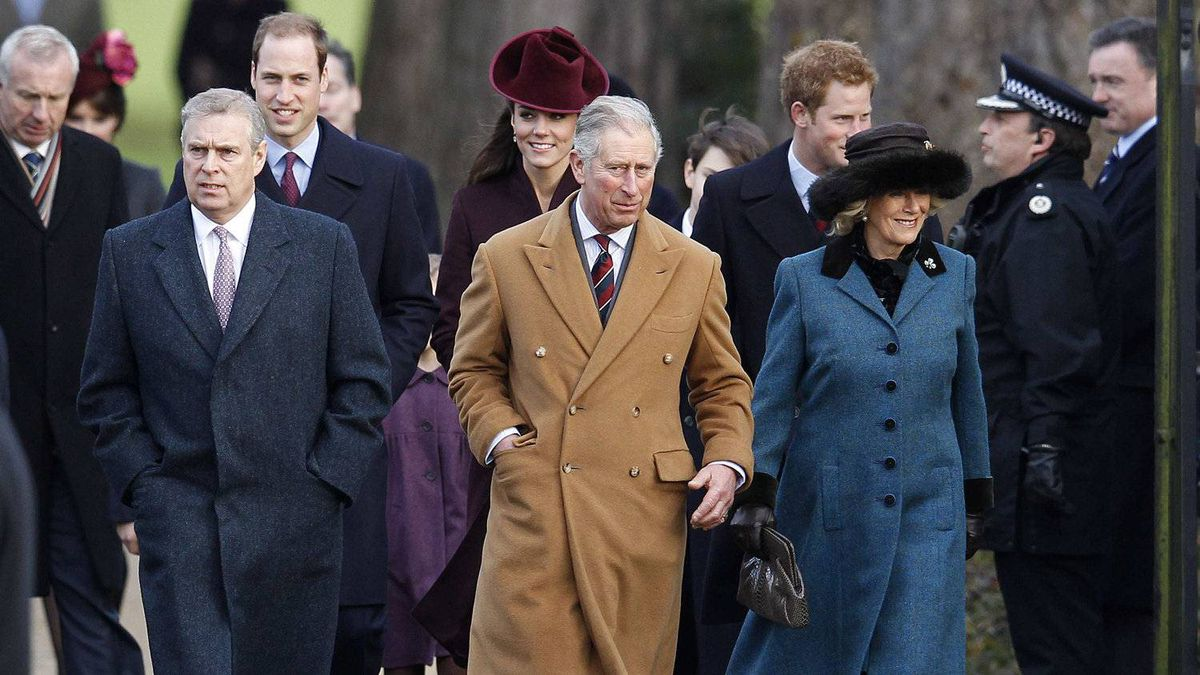 A royal Christmas: Britain's Prince Andrew, Prince William, Catherine, Duchess of Cambridge, Prince Charles, Prince Harry, and Camilla, Duchess of Cornwall (left to right) arrive for a Christmas Day service at St Mary Magdalene Church on the Royal estate at Sandringham, Norfolk in east England December 25, 2011.