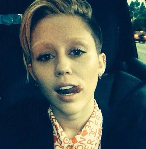 She did what? Miley Cyrus debuts her bleached eyebrows on Instagram
