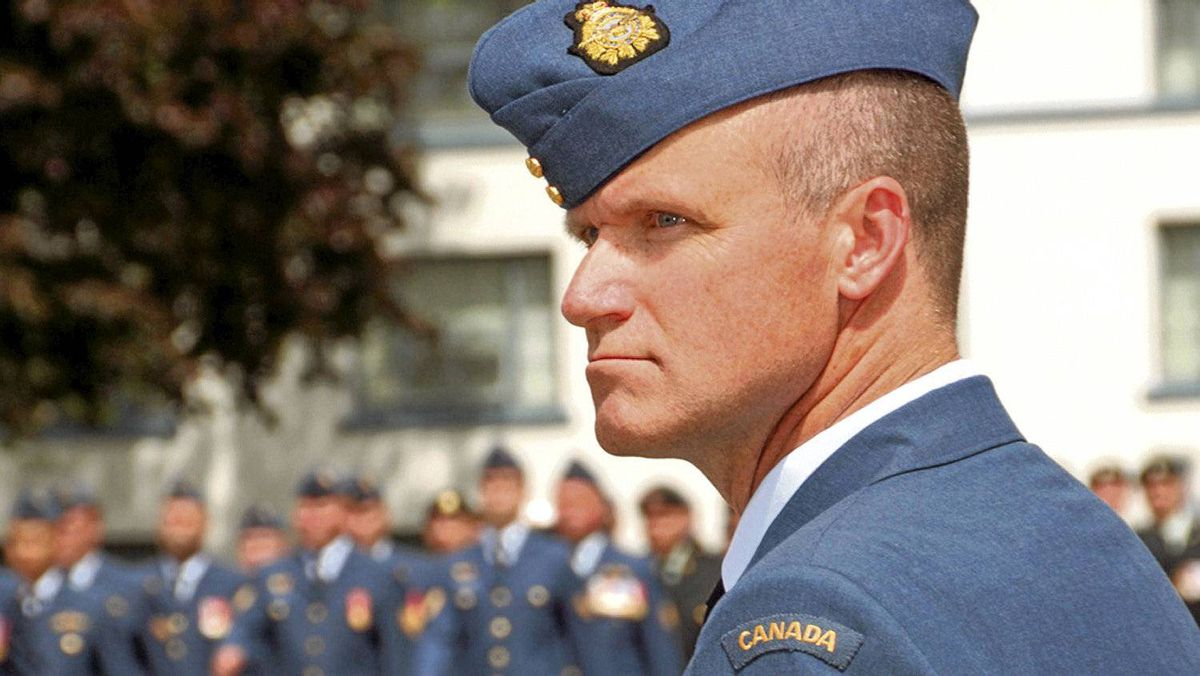 Colonel Russell Williams, who was stripped of his rank and expelled from the military, is shown as commander of CFB Trenton on July 15, 2009.
