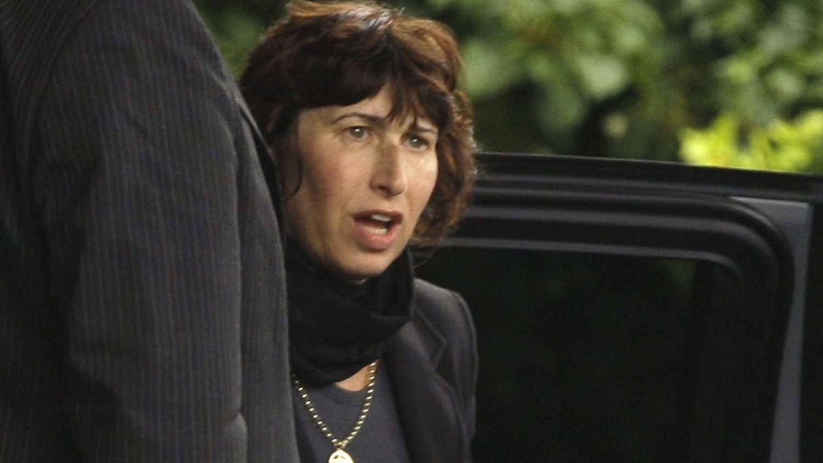 Amy Winehouse's mother Janis arrives at Golders Green Crematorium in north London, Tuesday, July 26, 2011 for the funeral of her daughter.