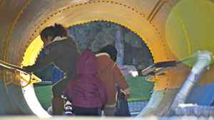 Ken Falk photo: More Kids in the Pipe - Young People playing in the pipe at Granville Is. Vancouver Jan. 30,2011