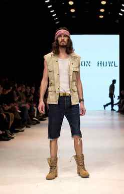 For spring 2012 the Klaxon Howl man is rough and tumble, or at least likes to look the part.