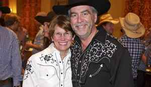 Lynda Morrison (left), Rod Morrison