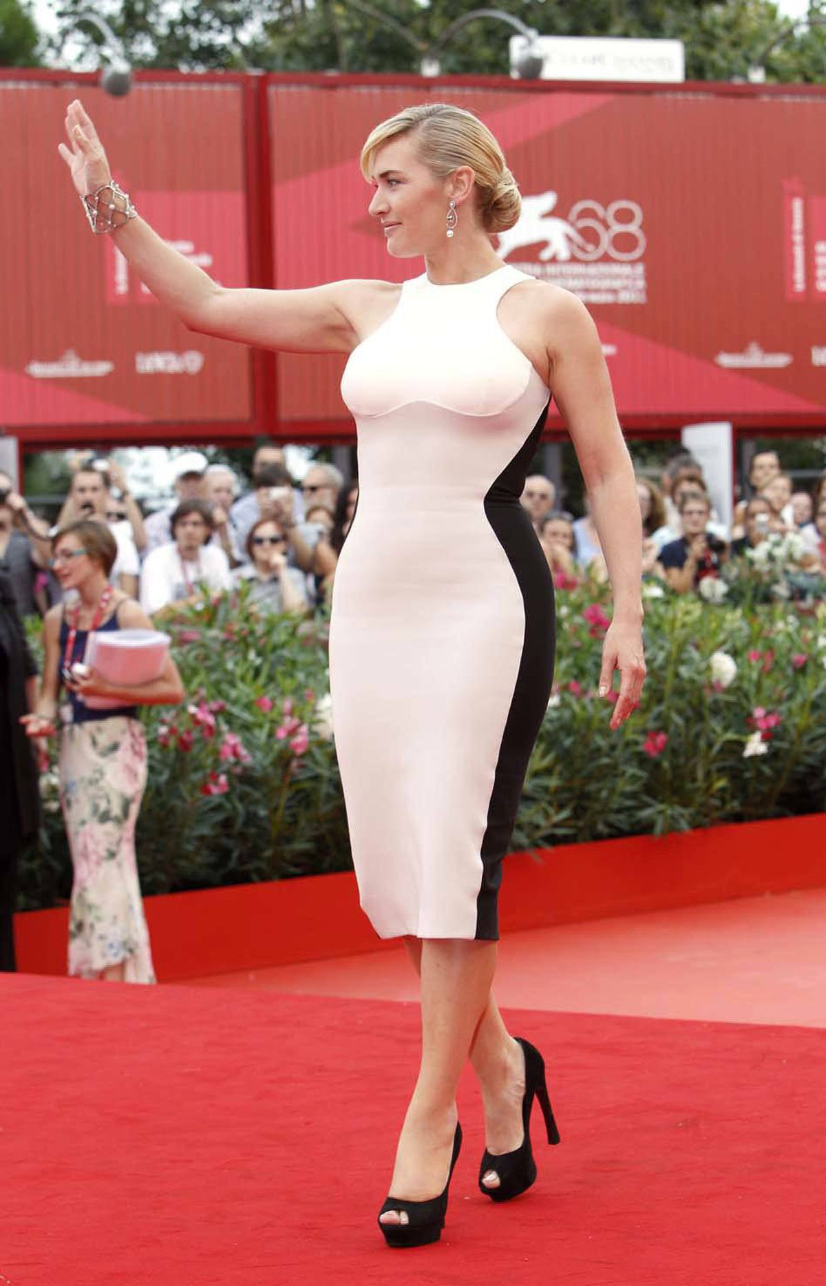 """Kate Winslet at the premiere of """"Mildred Pierce"""" at the Venice Film Festival on Friday."""