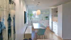 Home in the Fraser/Kingsway area of Vancouver renovated by architect Michel Laflamme. 'Restraint in terms of space, time and budget,' says Mr. Laflamme 'can bring out the best in a project.'