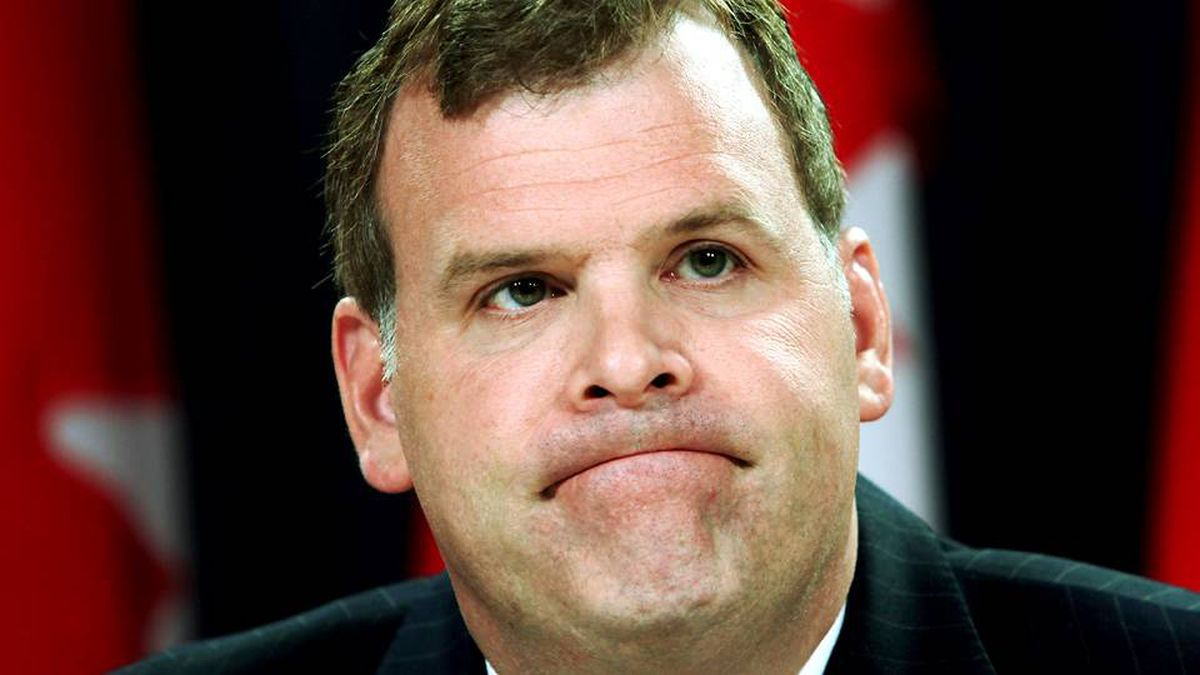 Transport Minister John Baird holds a news conference in Ottawa, Monday Aug. 31, 2009.