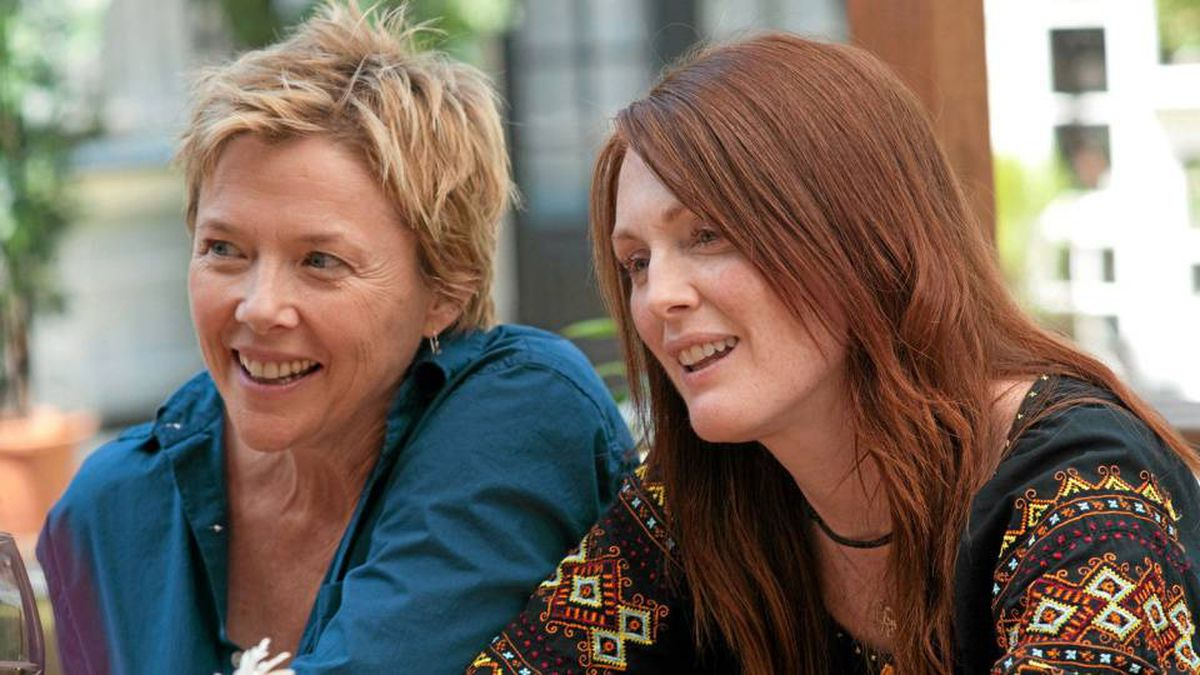 Annette Bening (left) and Julianne Moore play a lesbian couple in The Kids Are All Right.