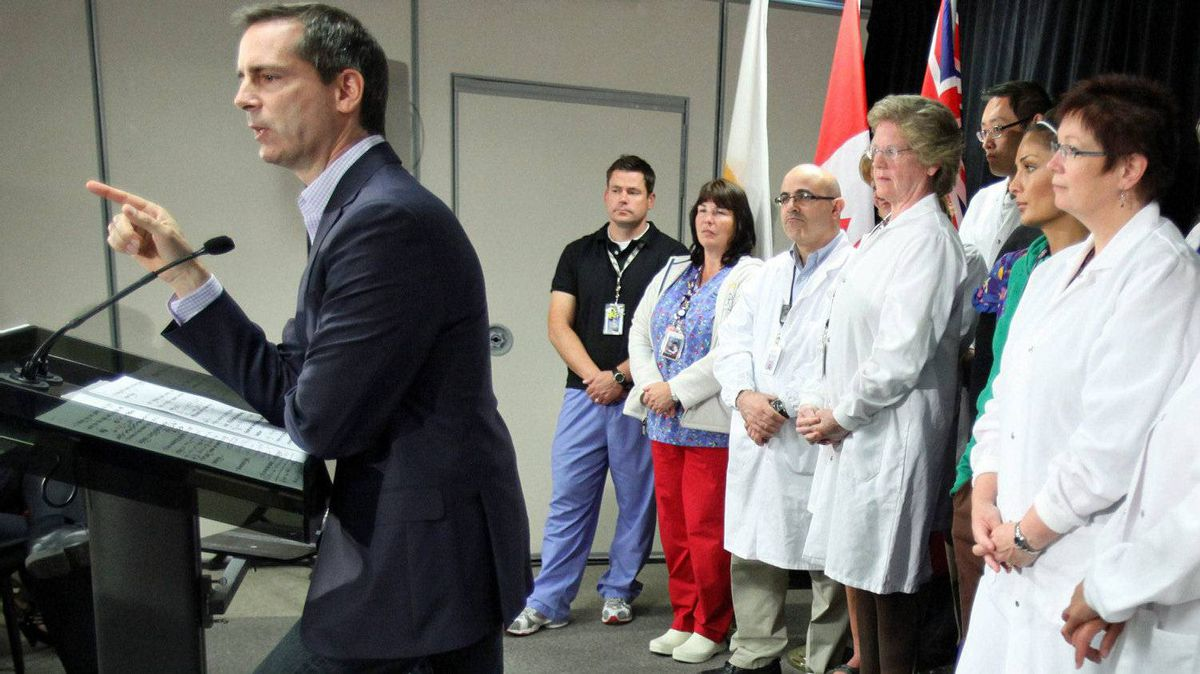 Ontario Liberal Leader Dalton McGuinty delivers a speech during a campaign stop at the Children's Hospital of Eastern Ontario in Ottawa on Sept. 19, 2011.