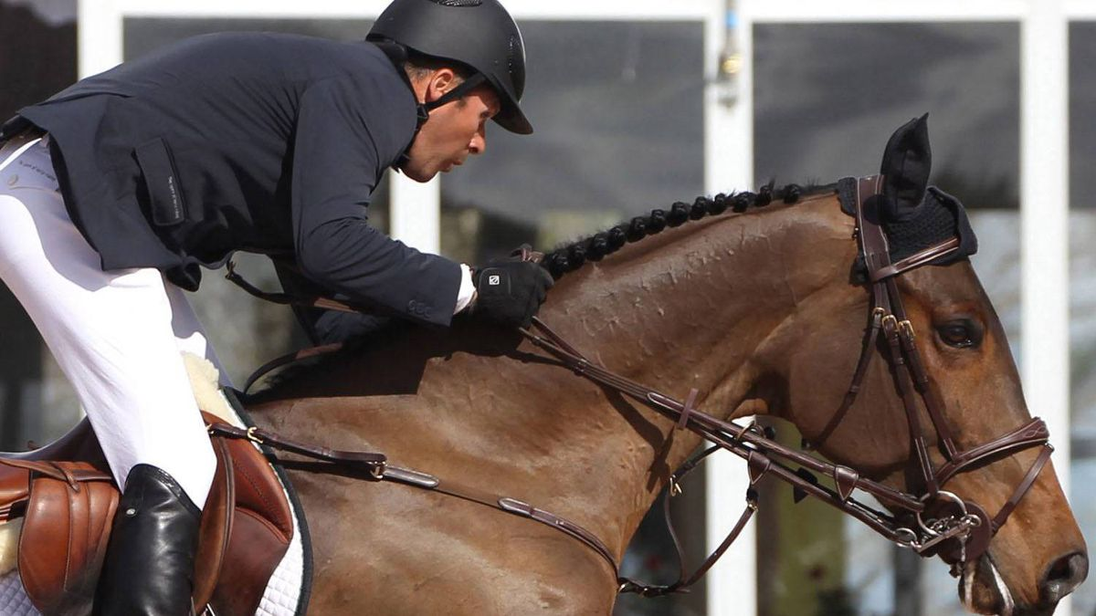 Canadian equestrian rider Eric Lamaze rides new horse Luikka in a handout photo. Lamaze has added several new horses to his stable as he looks towards defending his Olympic gold medal this summer without long-time mount Hickstead. THE CANADIAN PRESS/HO-Sportfot