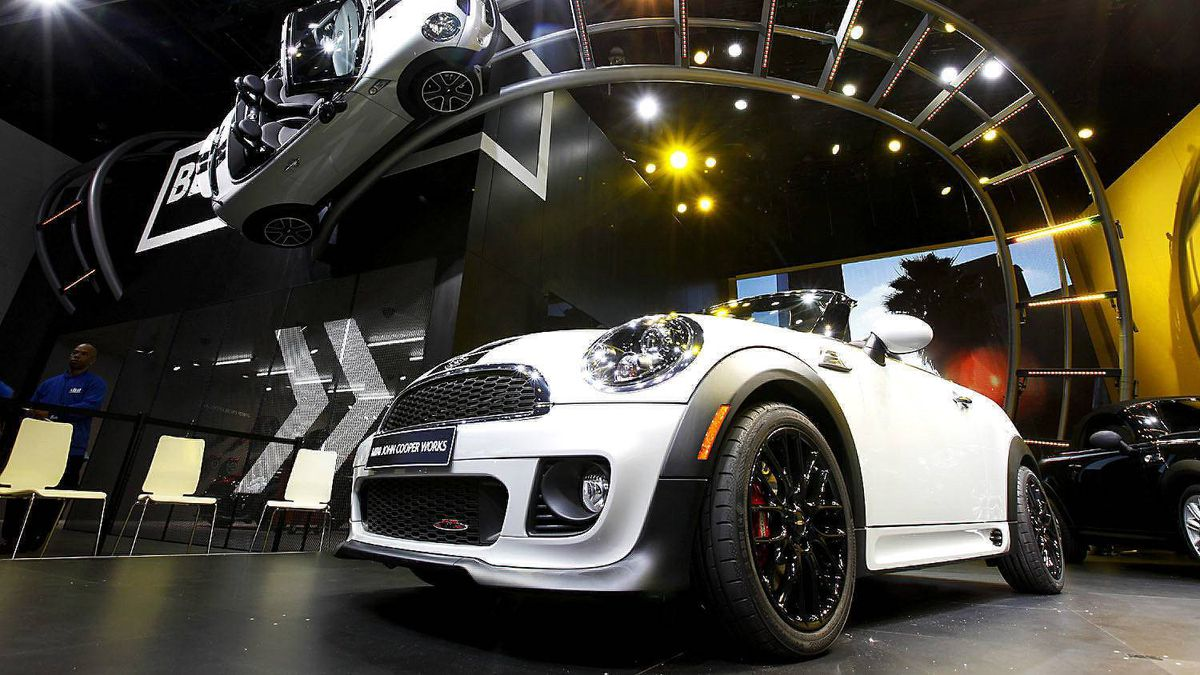2013 Mini Cooper exhibit is displayed at the North American International Auto Show in Detroit, Monday, Jan. 9, 2012.