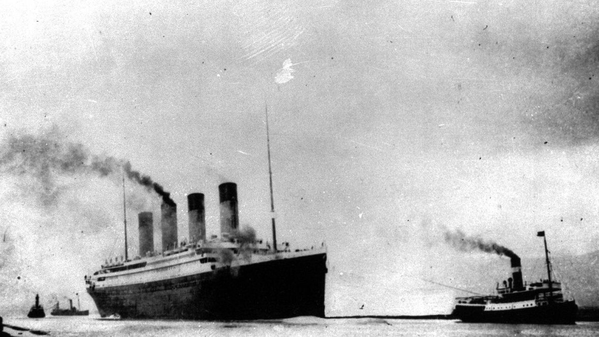 In this April 10, 1912 file photo, the Titanic departs Southampton, England on its maiden Atlantic voyage. April 15, 2012 is the 100th anniversary of the sinking of the Titanic, just five days after it left Southampton on its maiden voyage to New York.