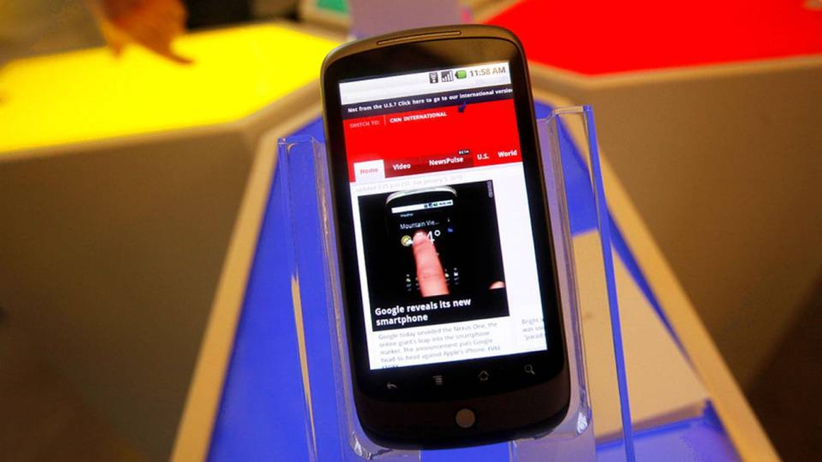 The Nexus One phone from Google Inc. is shown at a demo in Mountain View, Calif., Tuesday, Jan. 5, 2010.