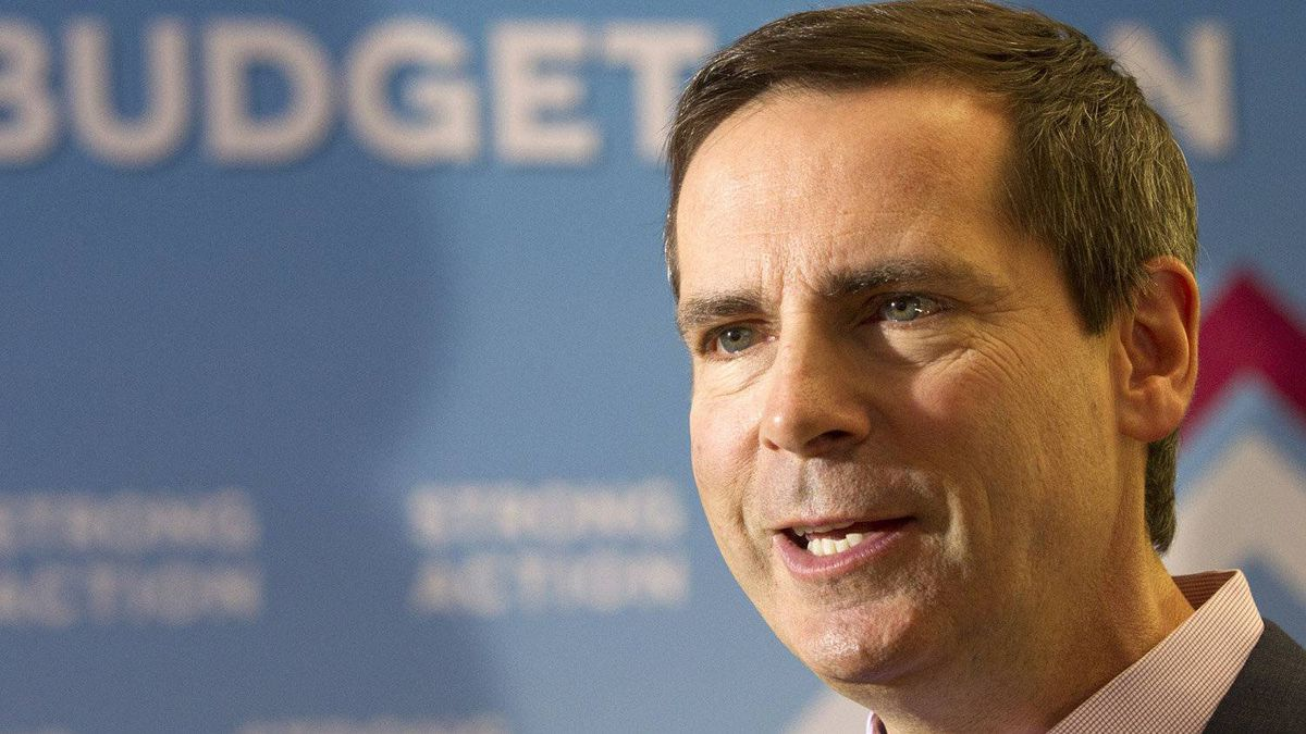 Ontario Premier Dalton McGuinty speaks during a visit to Blammo Games in Toronto on Tuesday May 1, 2012.