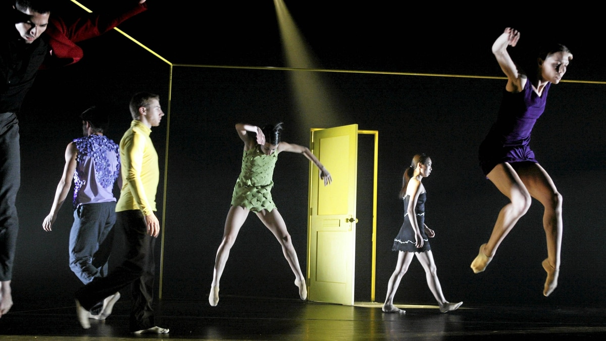 Cedar Lake Contemporary ballet performs Didy Veldman?s piece showing the shifting emotional barometers of people.