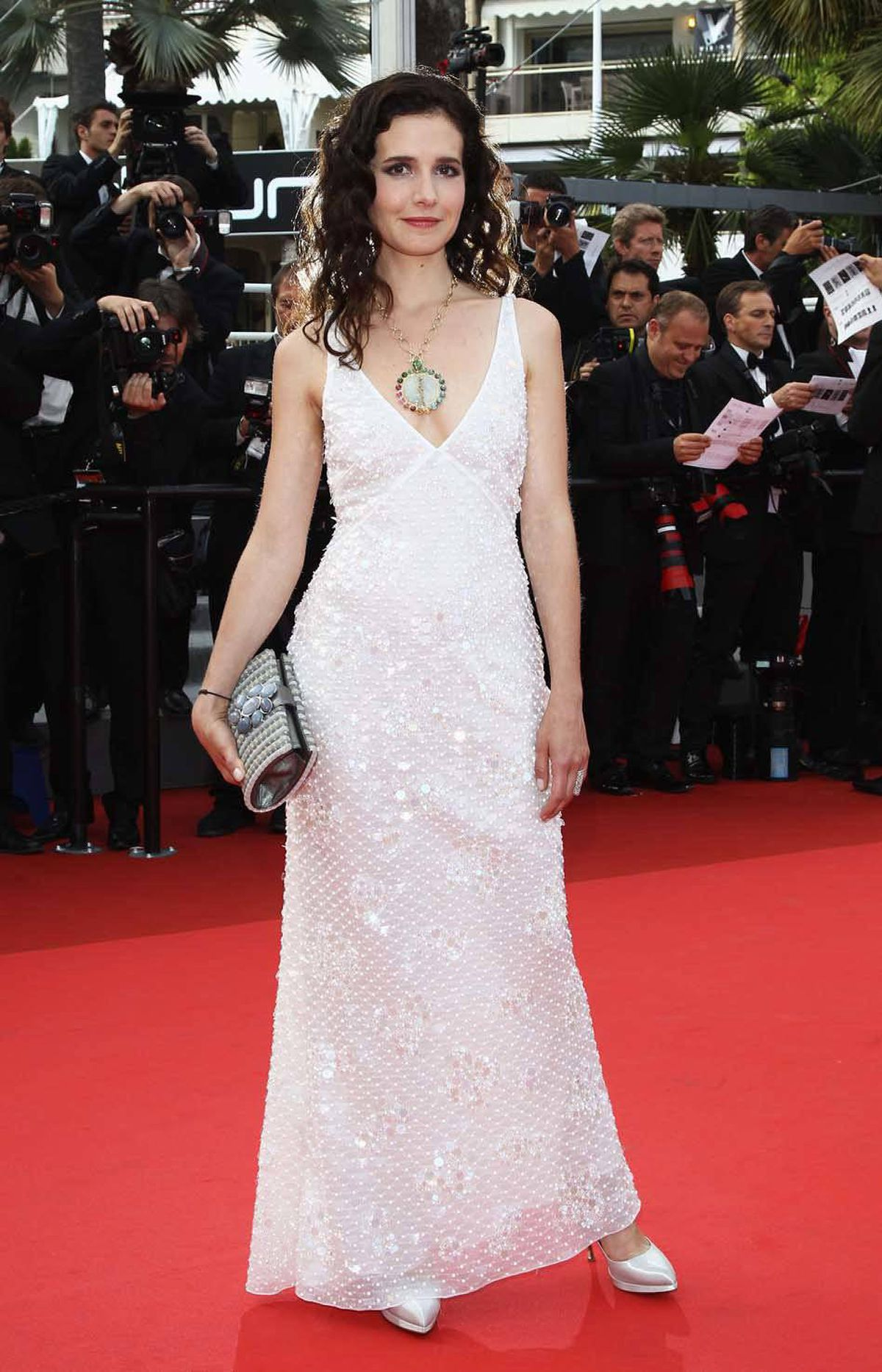 """French actress Chloe Lambert attends the """"Habemus Papam"""" premiere at the Cannes Film Festival on Friday."""