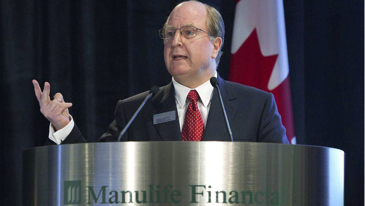 Manulife Financial President and Chief Executive Officer Donald Guloien.