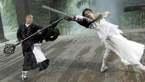"""Still from """"The Sorcerer and the White Snake"""" starring Jet Li and Shengyi Huang."""