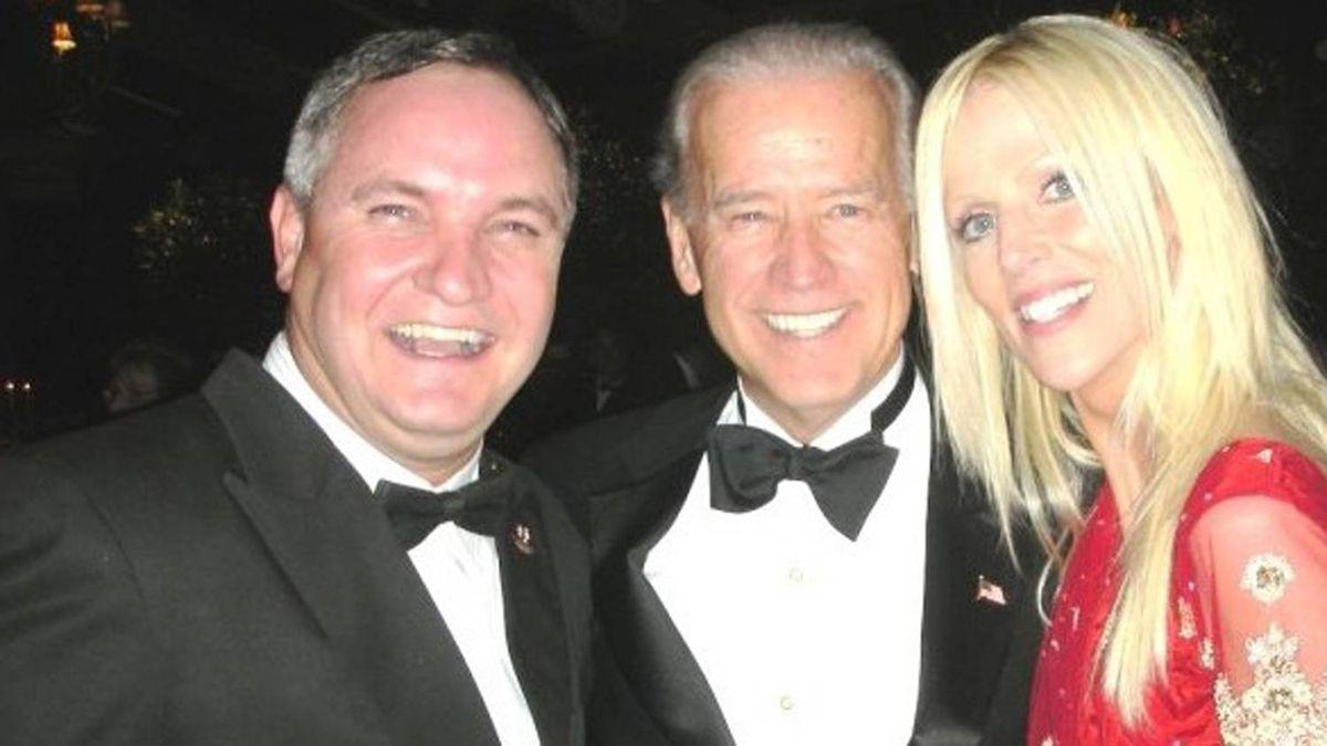 An image made from Michaele Salahi's Facebook page shows a photo of, Tareq Salahi, left, U.S. Vice-President Joe Biden and Michaele Salahi at the White House state dinner in Washington. AP