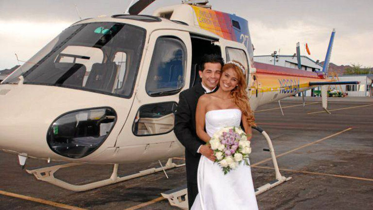 Arturo Gatti and Amanda Rodrigues on their wedding day.