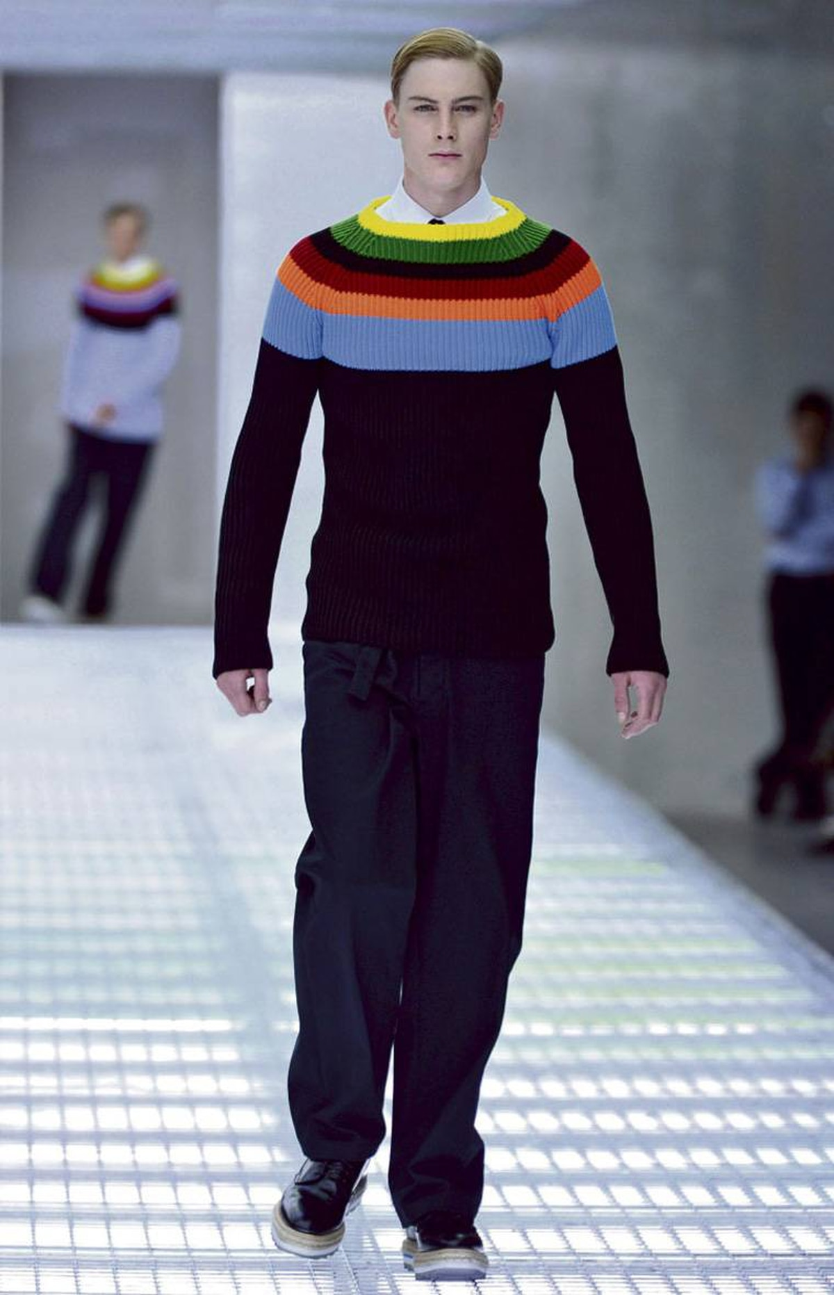 Stripes on the runway