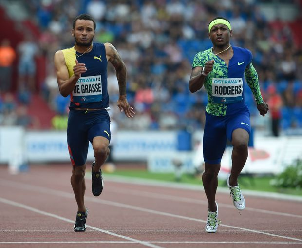 Andre De Grasse wins 200-metre gold and 100-metre silver at Golden Spike